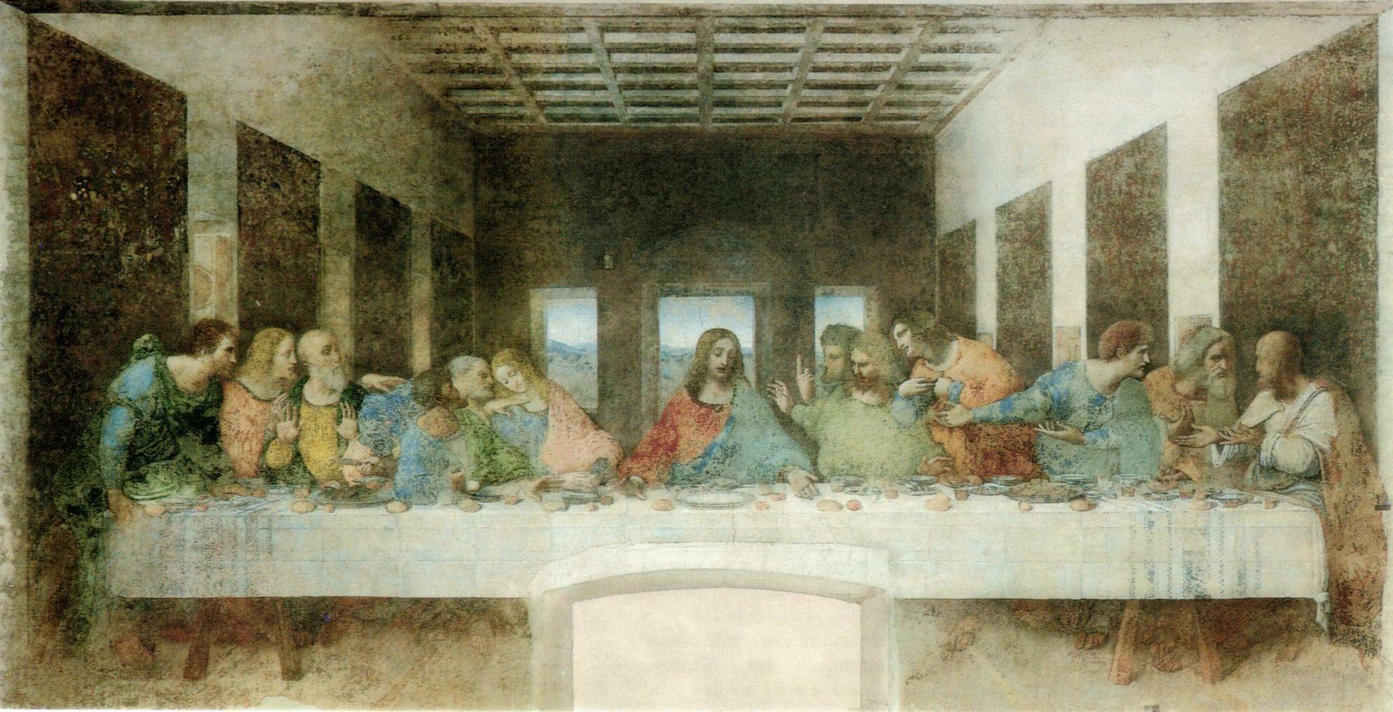 File:The Last Supper (1495-1498) by Leonardo da Vinci ... Da Vinci Last Supper High Resolution