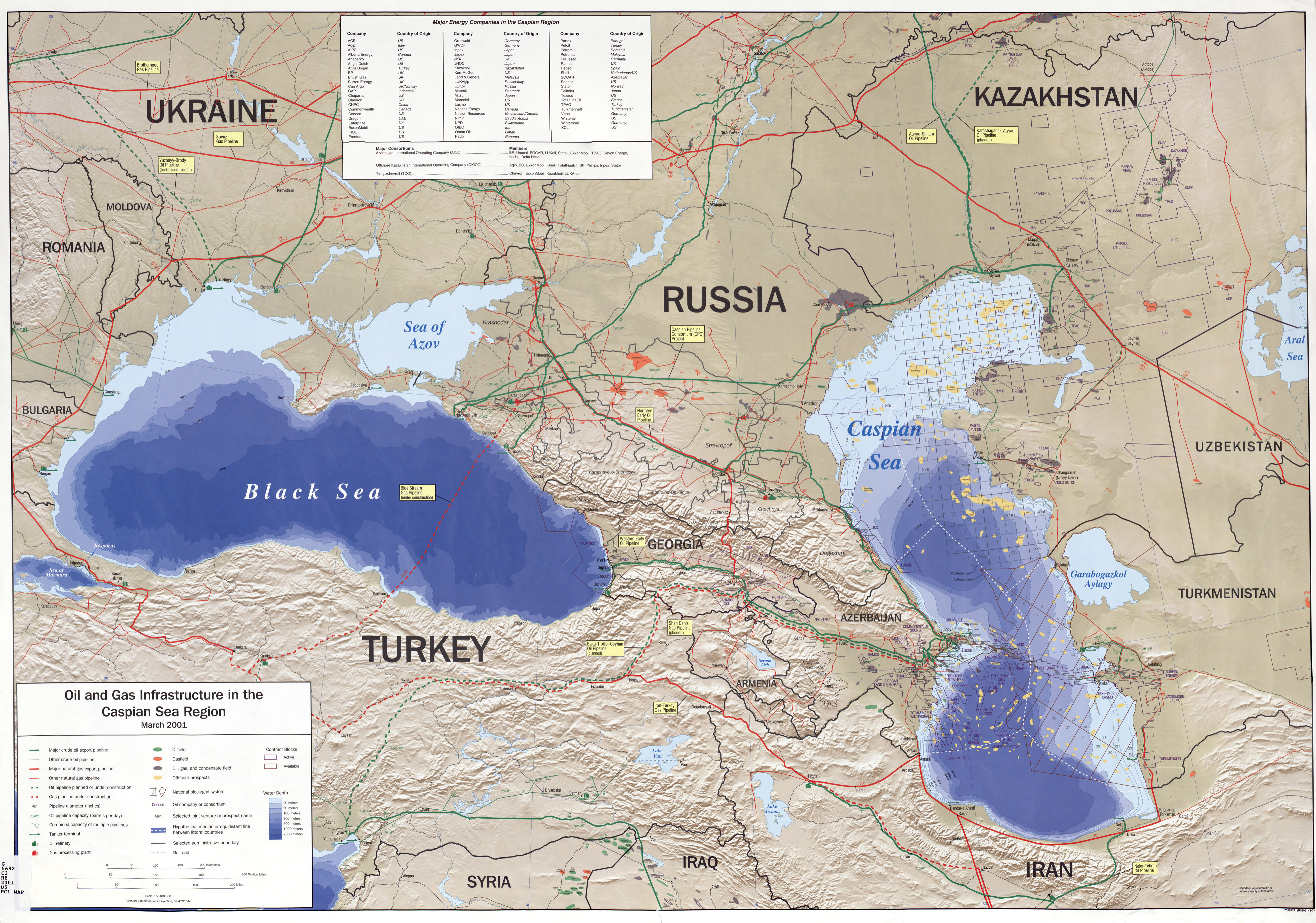 FileCaspian Sea Oil Gas Infrastructure Map2001jpg  The Work of