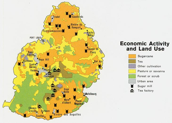 FileMauritius Economic Activity and Land Use Map 1972jpg The