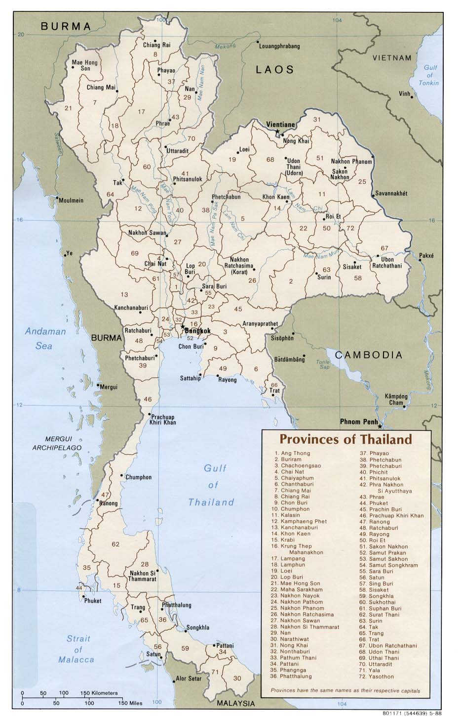 FileThailand Administrative Divisions Map of provinces 1988jpg