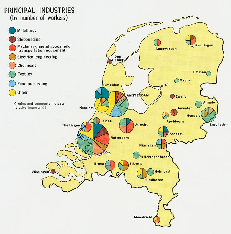 FileNetherlands Principal Industries Map 1970jpg The Work of