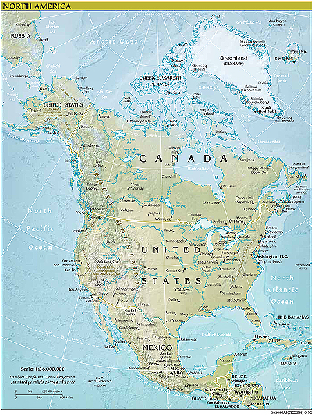 98 ideas North America Map With Physical Features on