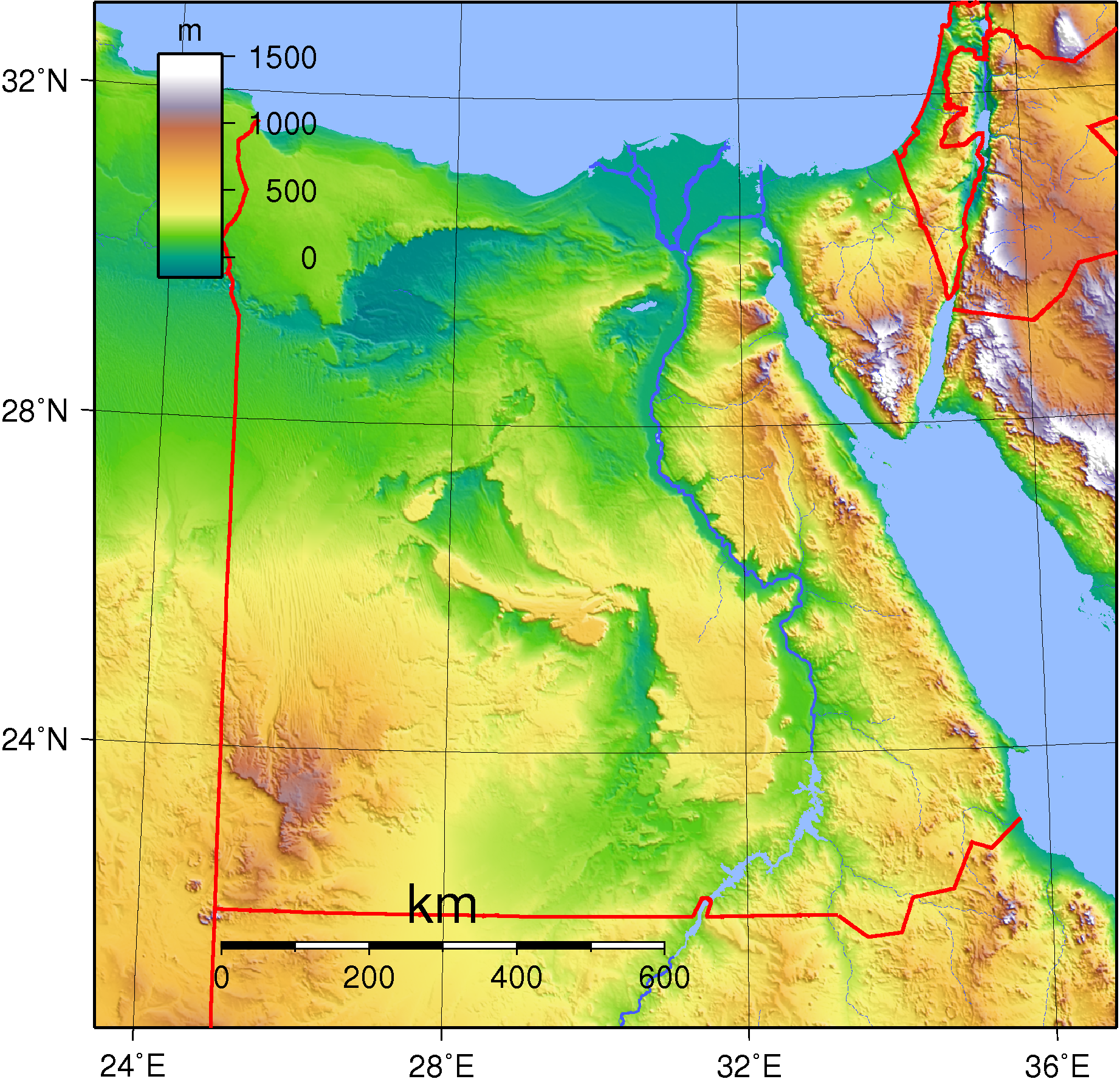 FileTopographic Map Of Egypt Png The Work Of Gods Children - Map of egypt elevation