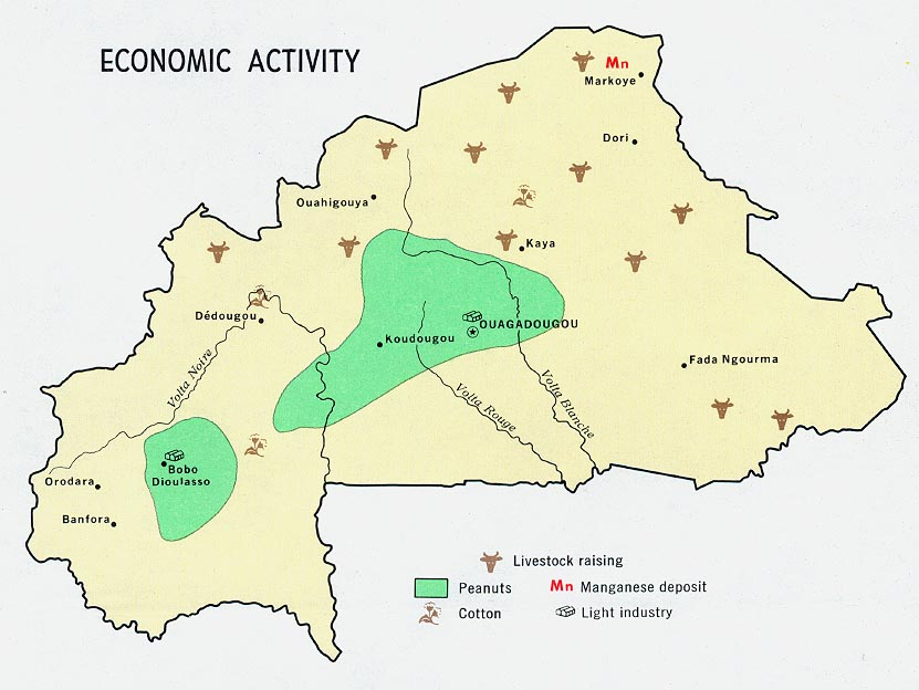 FileBurkina Faso Upper volta economic Map 1968jpg The Work of