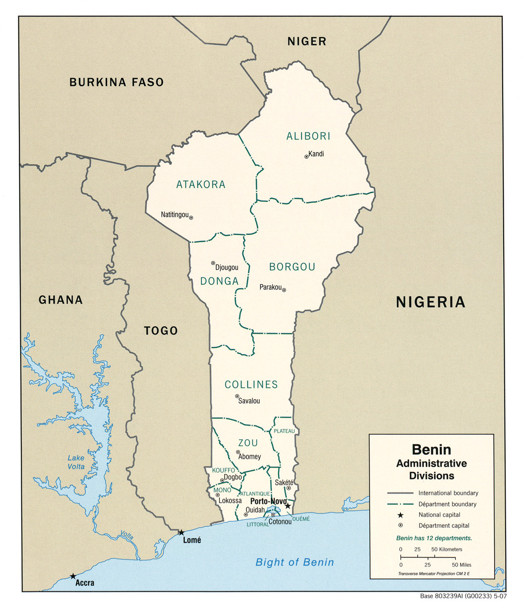 FileBenin Administrative Divisions Map 2007jpg The Work of Gods