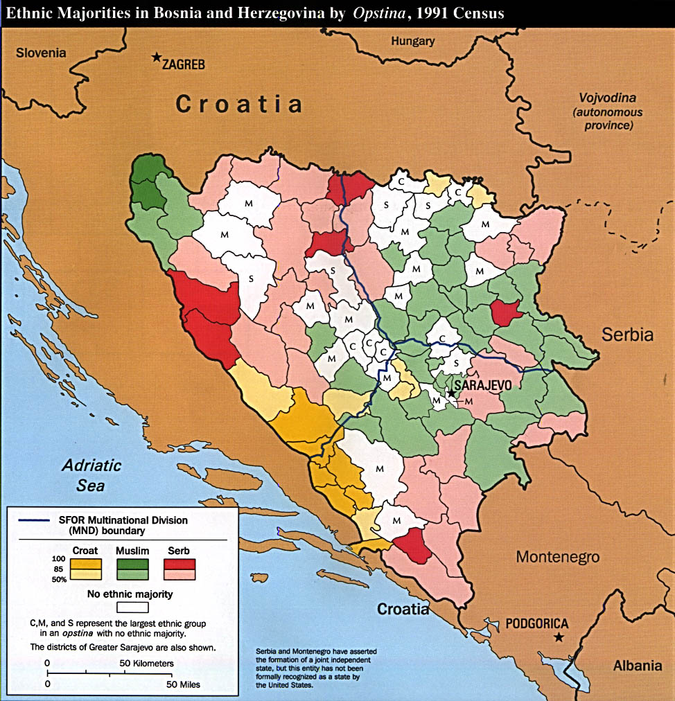 FileBosnia And Herzegovina Areas Of Responsibility Map Jpg - Bosnia and herzegovina map