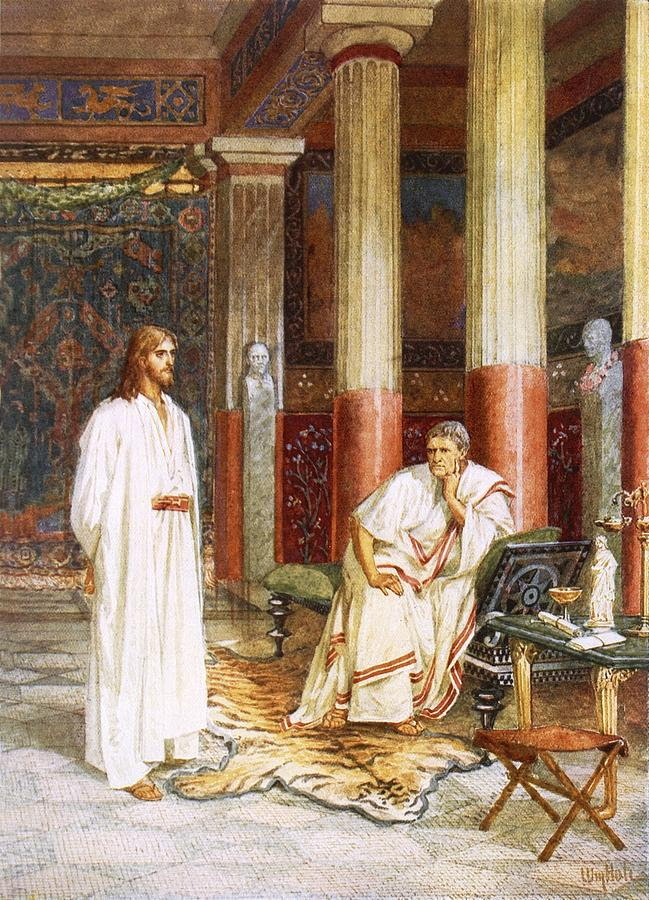 Interviewed By The Tarot: File:Jesus Being Interviewed Privately By Pontius Pilate