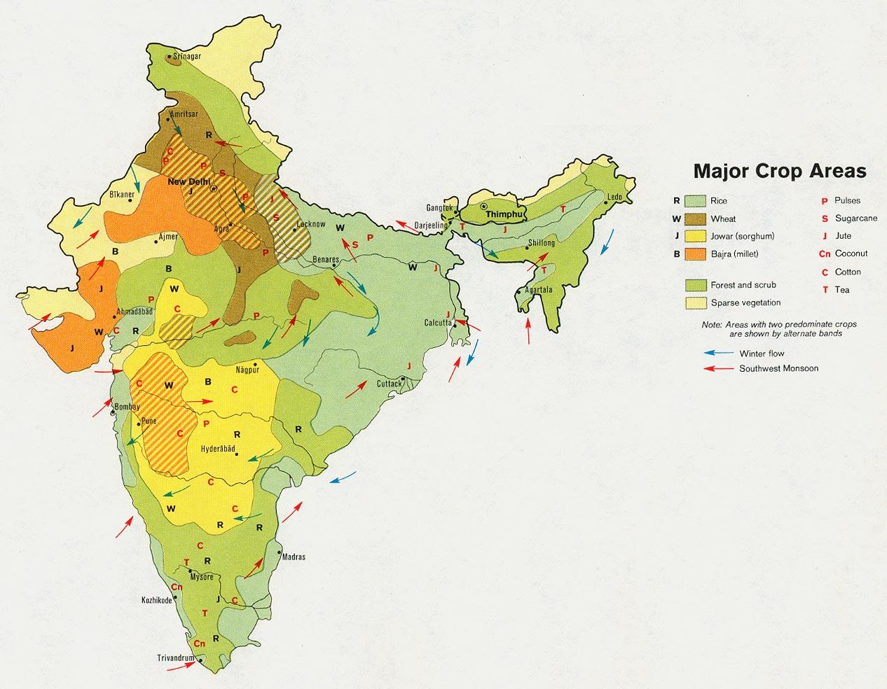 FileIndia crop Map 1973jpg The Work of Gods Children