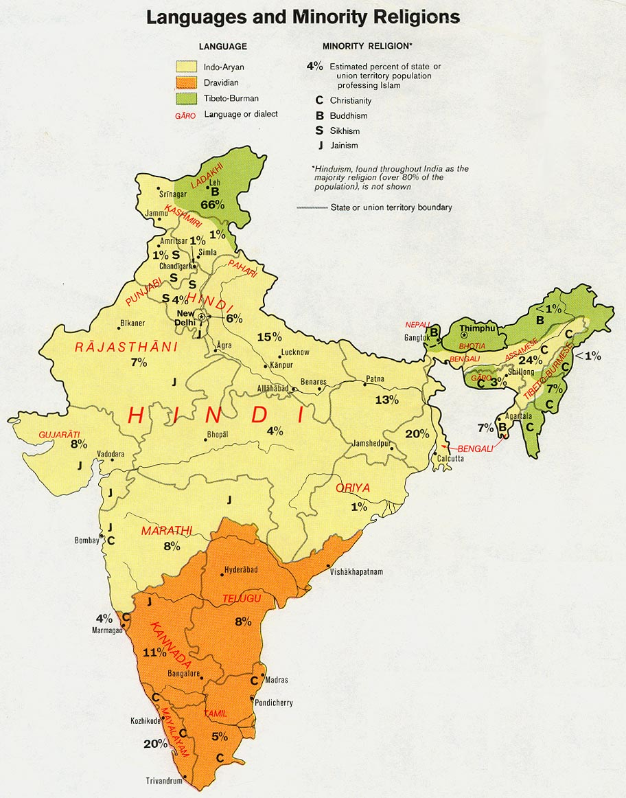FileIndia Language And Minority Religions Distribution Map - India religion map