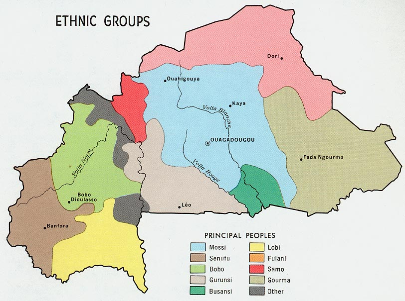FileBurkina Faso Upper volta ethnic Map 1968jpg The Work of