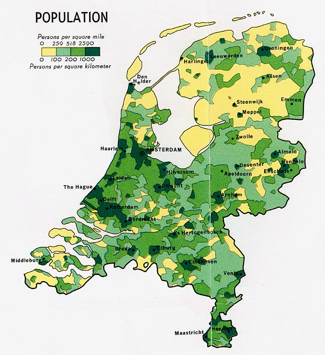 FileNetherlands Population Map 1970jpg The Work of Gods Children