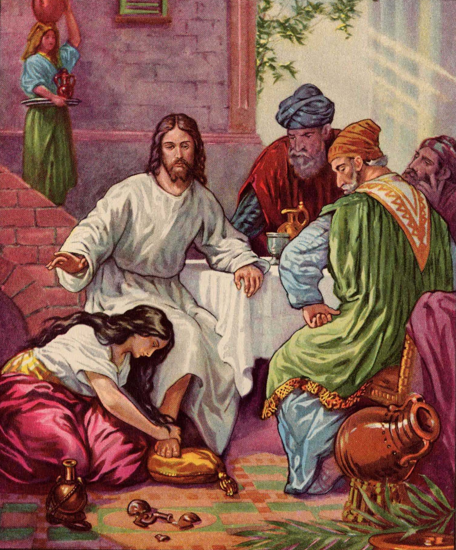 an understanding of the sinful woman who washed jesus feet with her hair The woman who anointed jesus by mary jane chaignot categories: women in the bible question in luke7:36-50, luke mentions the account of a woman who washed jesus feet while he was a dinner guest at the home of simon the pharisee.