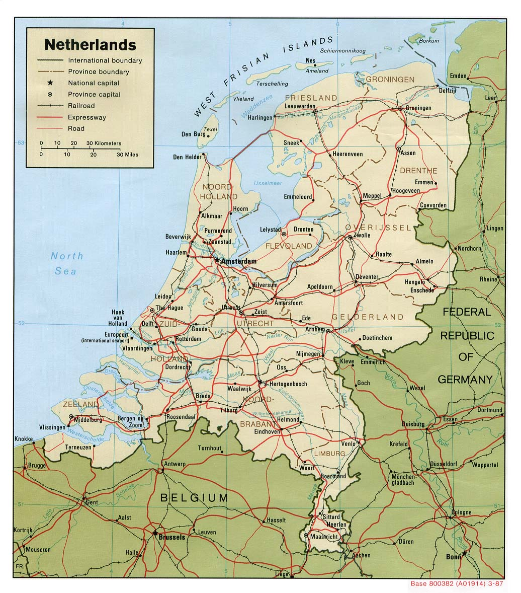 FileNetherlands political Map 1987jpg The Work of Gods Children