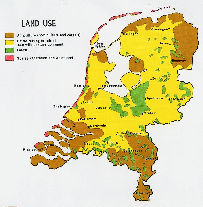 FileNetherlands Land Use Map 1970jpg The Work of Gods Children