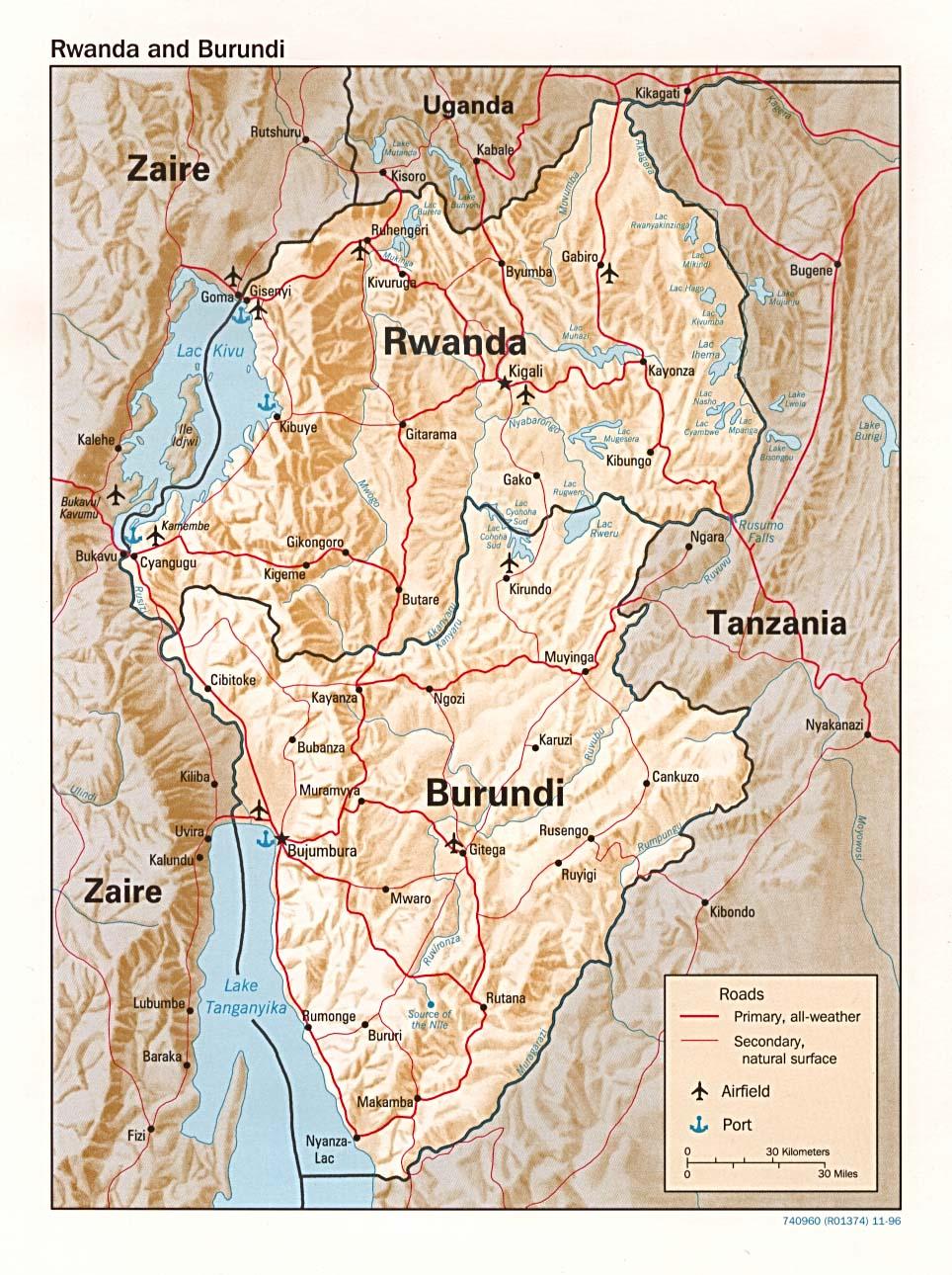 FileBurundi Rwanda relief Map 1996jpg The Work of Gods Children