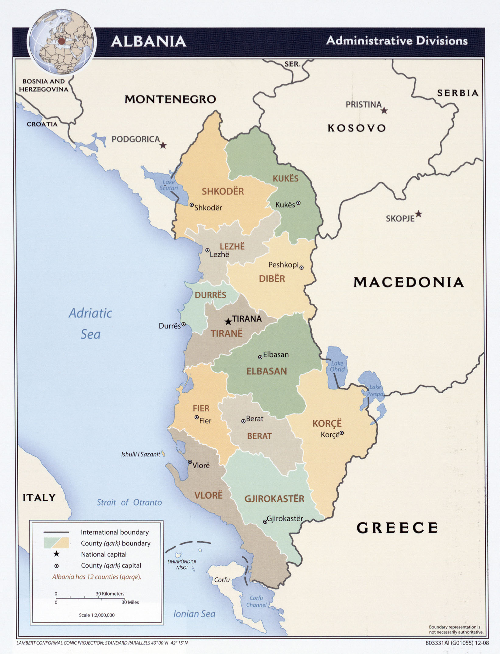 FileAlbania administrative divisions Map 2008jpg The Work of