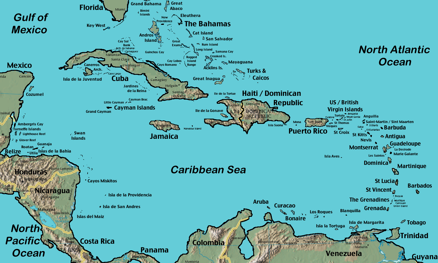 FileCaribbean Islands Locator Map