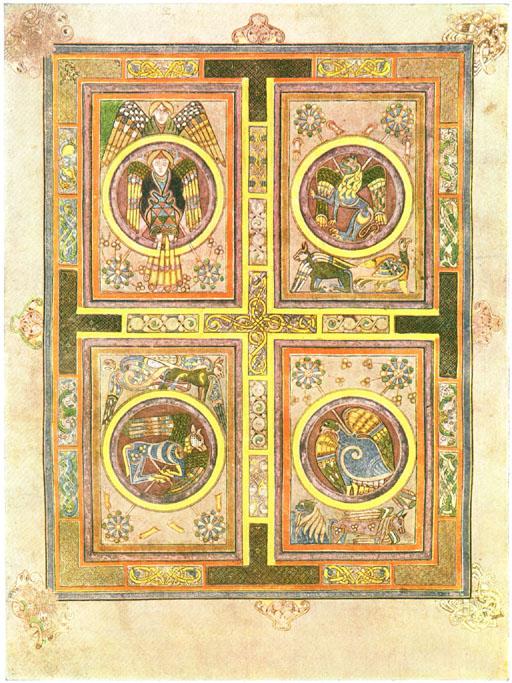 Filefour Evangelist Symbols Kellsfol129vg The Work Of Gods