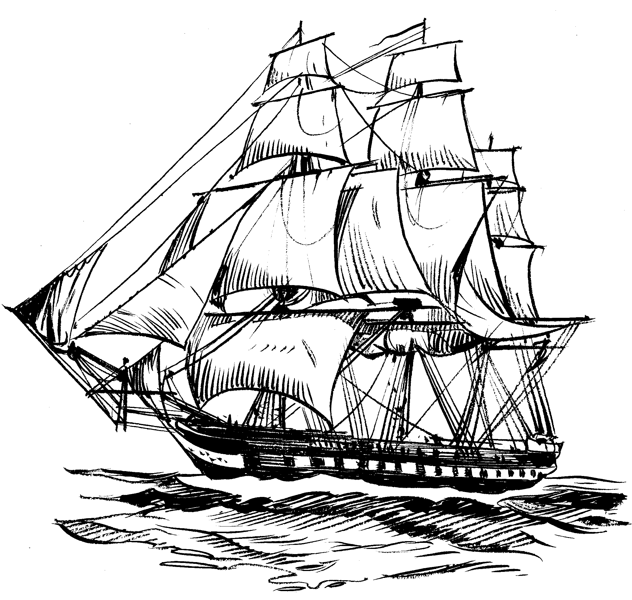 Line Drawing Ship : File old ironsides psf the work of god s children