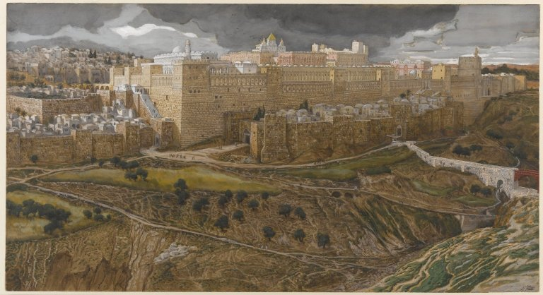 File:Reconstruction of the Temple of Herod Southeast Corner - James Tissot.jpg