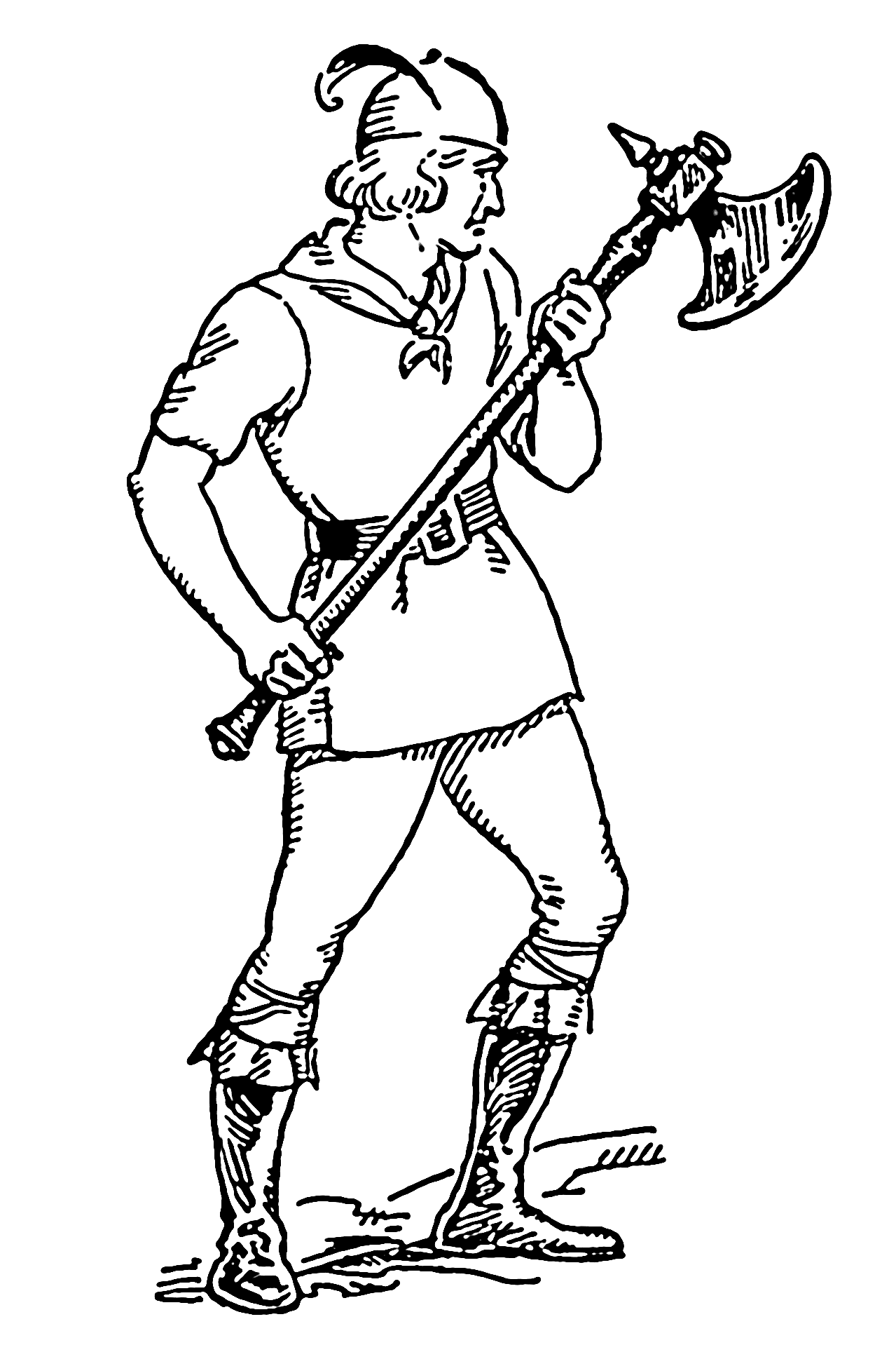 Medieval Battle Axe Drawing File:battle Axe 001.png