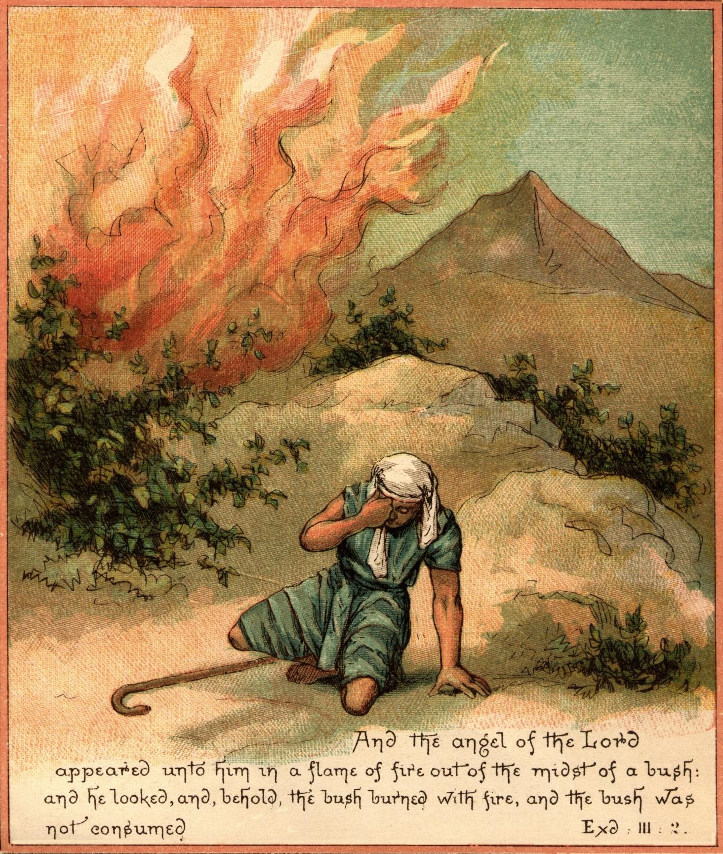 file moses and the burning bush jpg the work of god u0027s children