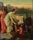 Daughter of Pharoh finds Moses in the river.jpg