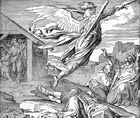 David Sees an Angel of God Killing His People - I Samuel 24 17 - I Chronicles 21 17.jpg