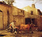 Karel Dujardin - A Smith Shoeing an Ox 001.jpg