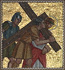 Simon of Cyrene helps Jesus carry His cross 001.jpg