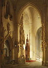 Edmund Herger Ulmer Münster painting of a church 001.jpg