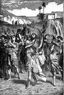 David Celebrates before the Ark of the Covenant - II Samuel 6 2-5.jpg