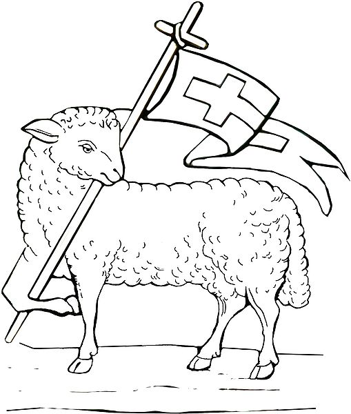 File Resurrection Lamb Coloring Book Page 004 Jpg The