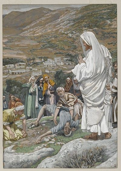 The Possessed Boy at the Foot of Mount Tabor(Le possédé au pied du Thabor)Matthew 17:14-17Mark 9:13-26Luke 9:37-43