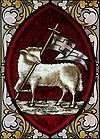 Lamb of God standing with flag 004.jpg