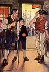 Man With One Leg and Cane Talking to Another Man.jpg
