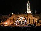 Sanctuary of Our Lady of Lourdes - Rosary Basilica - Basilique du Rosaire at night 003.jpg