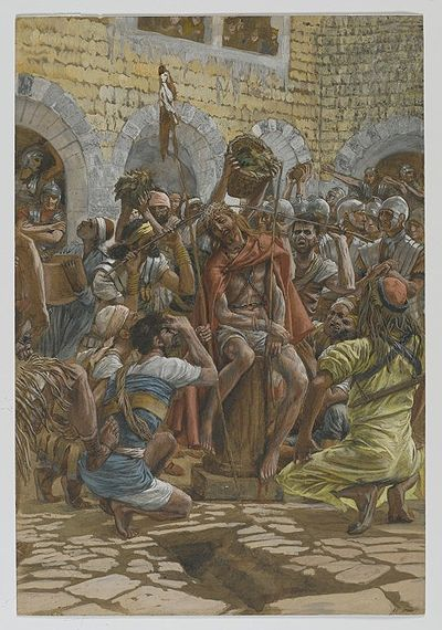 The Crowning of Thorns(Le couronnement d'épines)Matthew 27:27-31Mark 15:16-20John 19:2-3