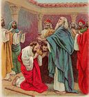 Paul and Barnabas sent on 1st missionary journey Acts 13.jpg