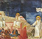 Resurrection (Do not touch Me) by Giotto di Bondone (1267-1337) in Cappella Scrovegni a Padova .jpg