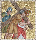 Simon of Cyrene helps Jesus carry His cross 004.jpg