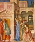 Saint Lawrence Receives Treasures of the Church from Pope Sixtus II- San Lorenzo (Fra Angelico).jpg
