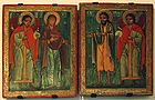 Diptych of Archangel Michael Theotokos Saint John the Baptist Archangel Gabriel 001.jpg