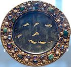 Serpentine paten with inlaid gold fish from the 1st century - Louvre, France.jpg