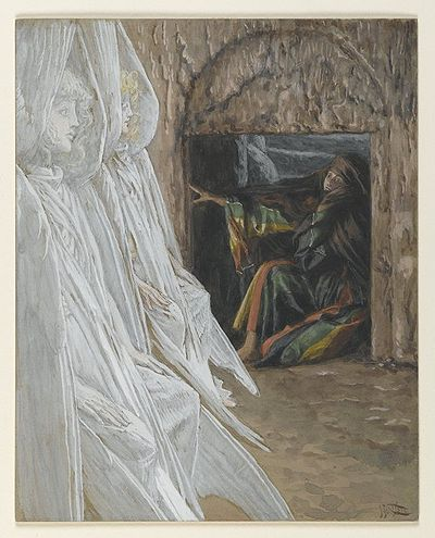 Mary Magdalene Questions the Angels in the Tomb(Madeleine dans le tombeau interroge les ange)John 20:11-13