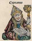 Saint Cyprian - Nuremberg chronicles f 121v 1.png