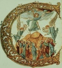 Ascension in the Letter C - SacramentaryFol71v.jpg