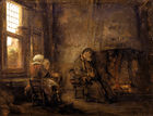 Rembrandt van Rijn - Tobit and wife waiting for return of son.jpg