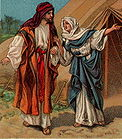Rebekah tells Jacob to take his brother's blessing 001.jpg