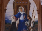Virgin blessing Bernadette Soubirous and Joan of Arc.JPG